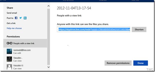 Unified-sharing SkyDrive
