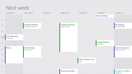 Windows 8 Calendar apps