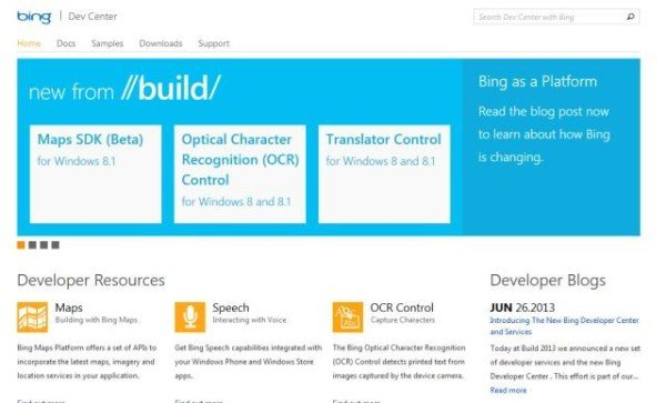 Bing Dev Center
