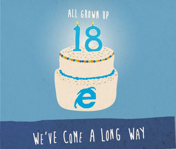 IE TURNS 18