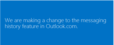 Outlook.com to delete akll your chat histories