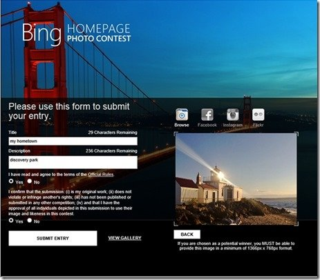 bing hometown photo contest