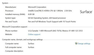 Surface Pro 2 new prococessor