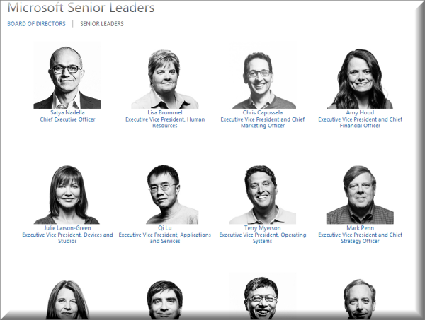 Microsoft senior leadership