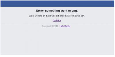 Facebook down Jan 2015