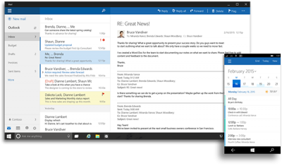 Outlook WIndows 10 PC and Mobile