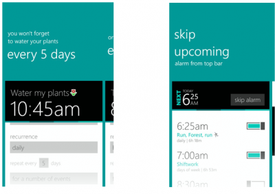 Realarm for Windows Phone_calendar features