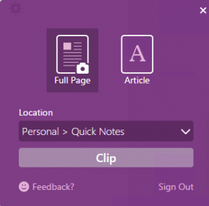 OneNote-Clipper