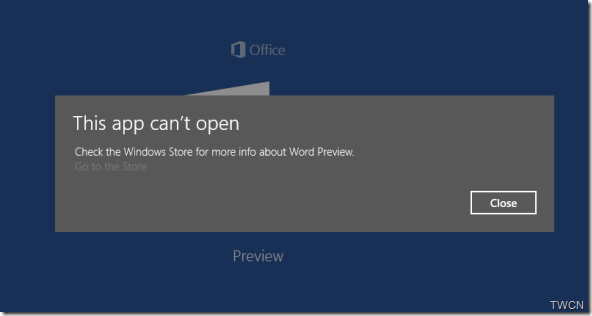 WordApp preview Error
