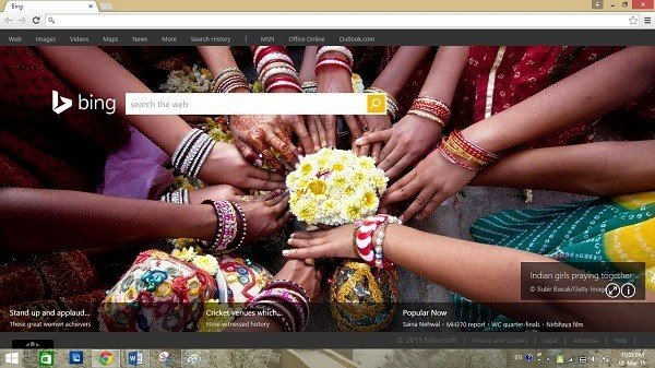 bing new tab extension