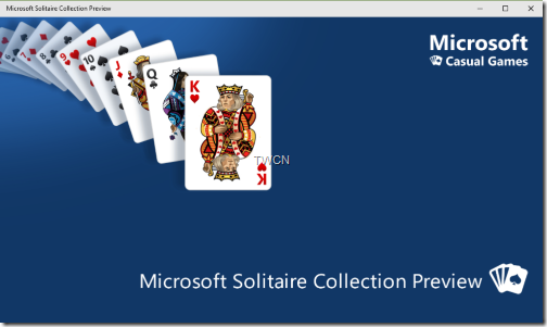 Windows 10 bundles Solitare game