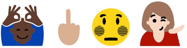 windows 10 middle finger emoji