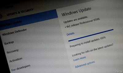 Windows 10 Insider Preview Build 10586