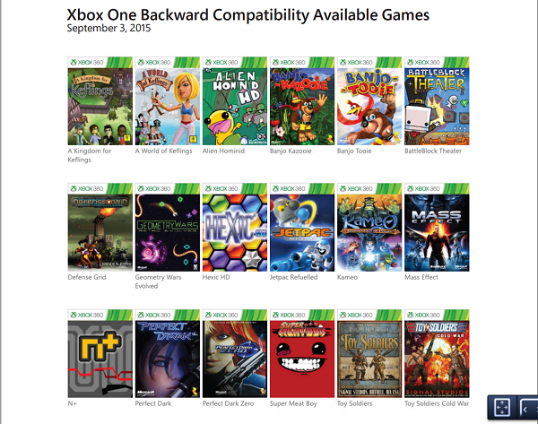 What Are Available For The Xbox One Games : Microsoft lists xbox one backward compatibility games