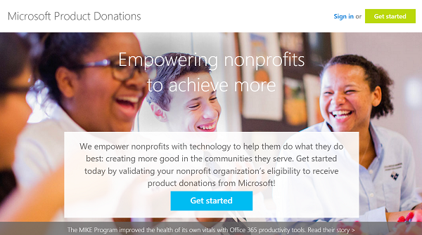 Microsoft Product Donations