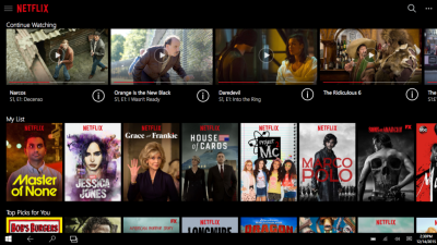 Netflix Universal App for Windows 10