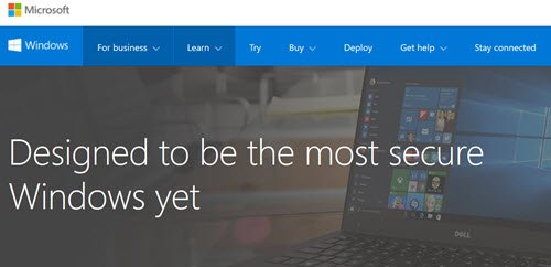 windows 10 security website