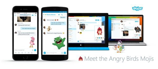 Angry Birds emoticons for Skype