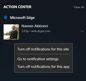 Web notifications