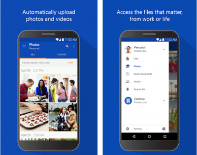 OneDrive Android app can preview Office documents