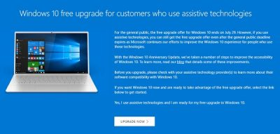 wwindows 10 free upgrade