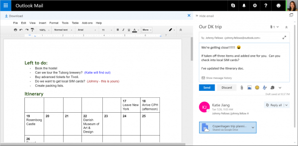 Outlook.com adds support for Google Drive and Facebook