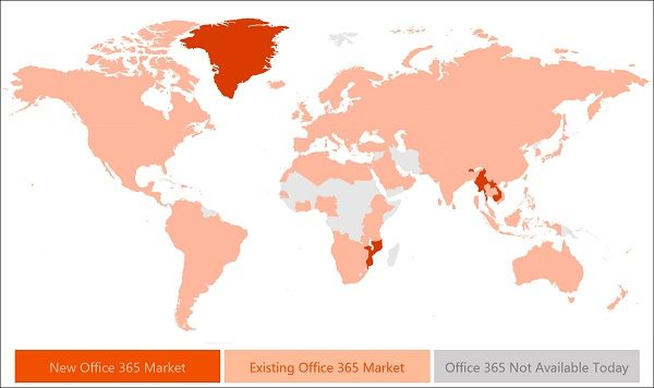 Office 365 expands to 10 more countries