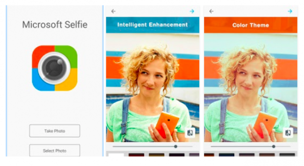 Microsoft Selfie app for Android