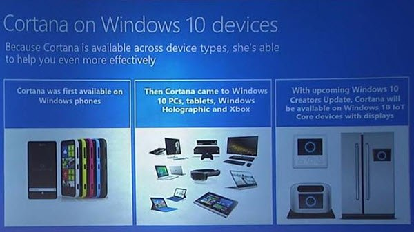 Cortana on IoT devices