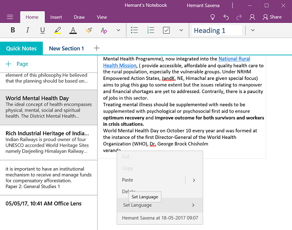 New Features in OneNote v17.8241.5759