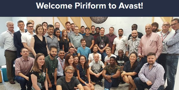 Avast acquired Piriform