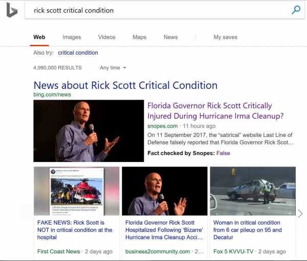 Bing to support ClaimReview by adding Fact Check label in SERP