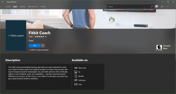 Fitbit Coach app for Windows 10
