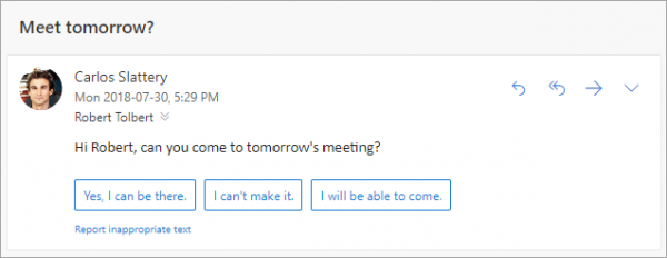 Suggested Reply for Outlook emails
