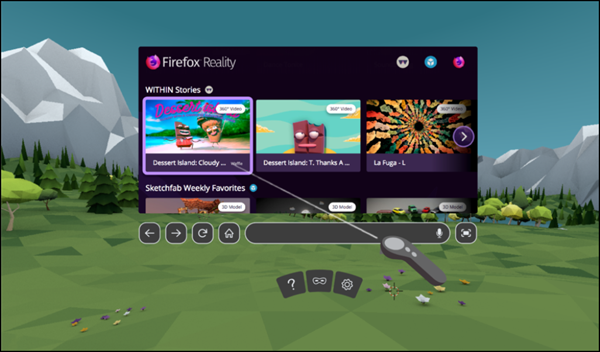 Mozilla Firefox Reality browser