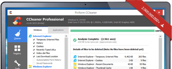 CCleaner updated itself without permission