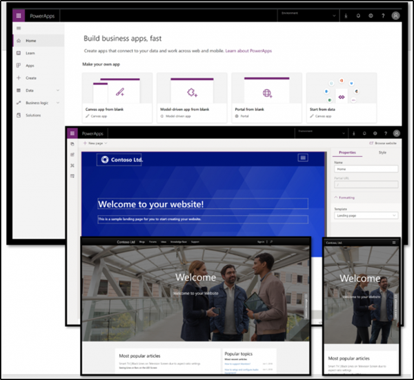 PowerApps Portal Dashboard