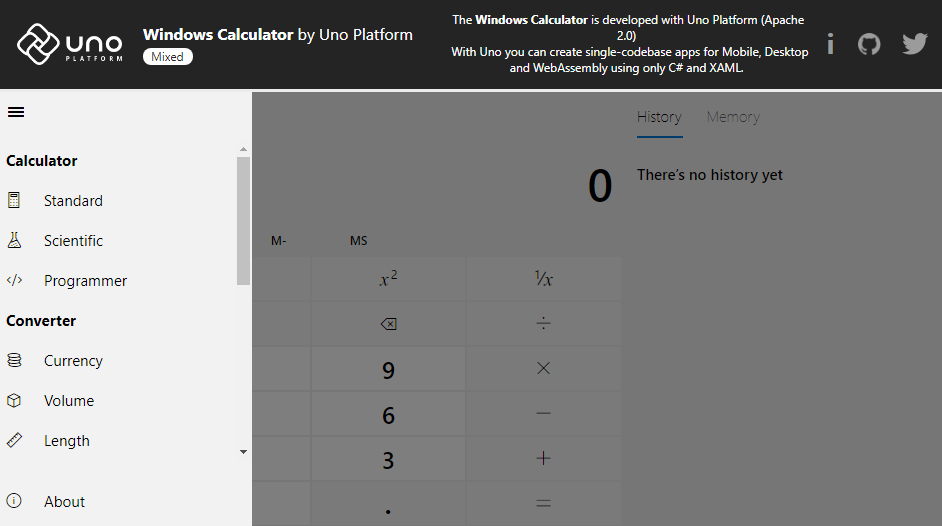 Windows Calculator Android iOS Web