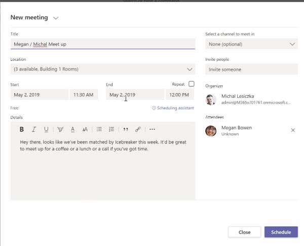 Icebreaker App for Microsoft Teams