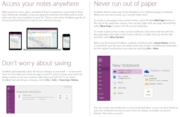 OneNote 2016 support extended