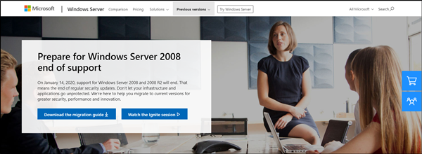 Microsoft Exchange Server end support