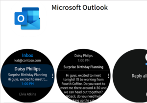 Outlook app for Samsung Galaxy wearable