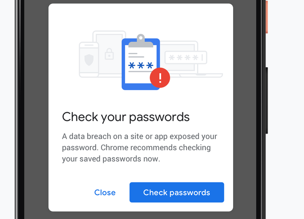 Chrome Warn Data Breach