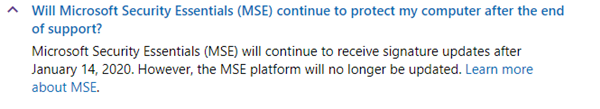 Wait! Microsoft Security Essentials will receive updates after January 14