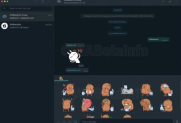 WhatsApp Dark Mode Desktop Stickers