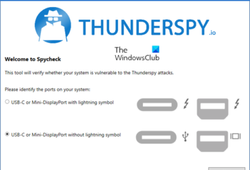 Check if your PC is vulnerable to the Thunderspy attack