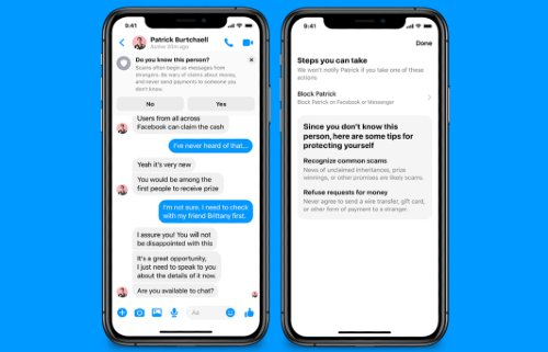Facebook Messenger Safety Notices
