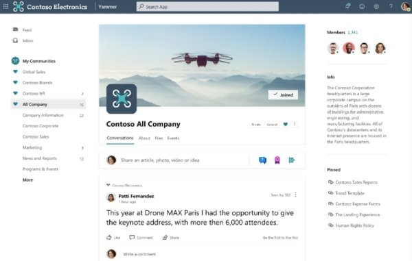 New Yammer Public Preview