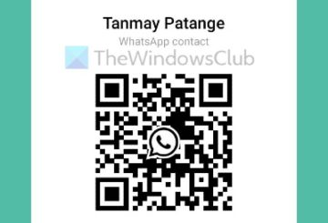 WhatsApp Add Contact QR Code