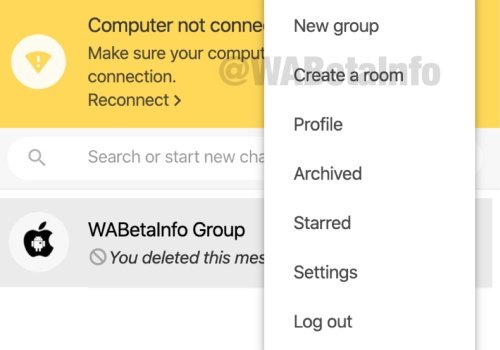 WhatsApp Web Messenger Rooms